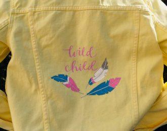 Gul jeansjacka –Wild Child (152)